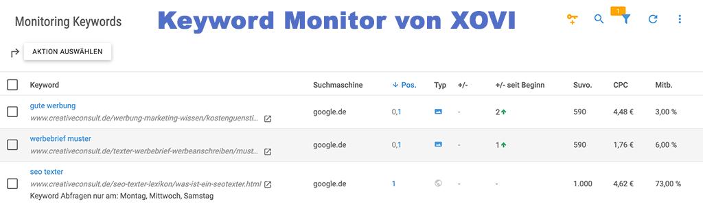 Keyword Monitor Beispiel